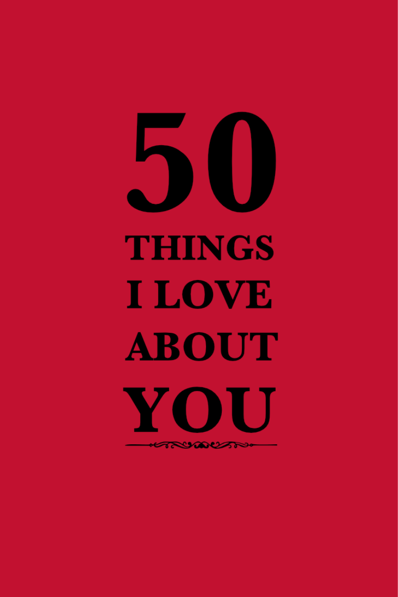 50 Things I Love About You Hardcover Gift Journal
