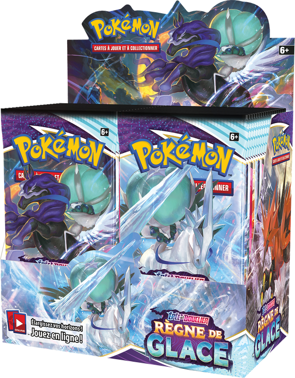 Display de 36 Boosters Pokémon Règne de Glace EB 6