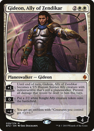 Gideon, Ally of Zendikar [Battle for Zendikar]