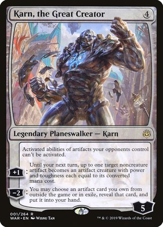 Karn, the Great Creator [War of the Spark] - Good Games