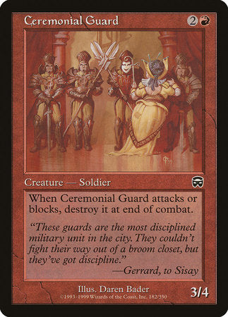 Ceremonial Guard [Mercadian Masques]