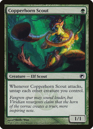 Copperhorn Scout [Scars of Mirrodin]
