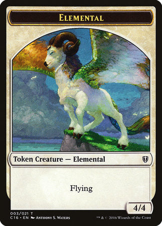 Elemental // Soldier Double-sided Token [Commander 2016 Tokens]