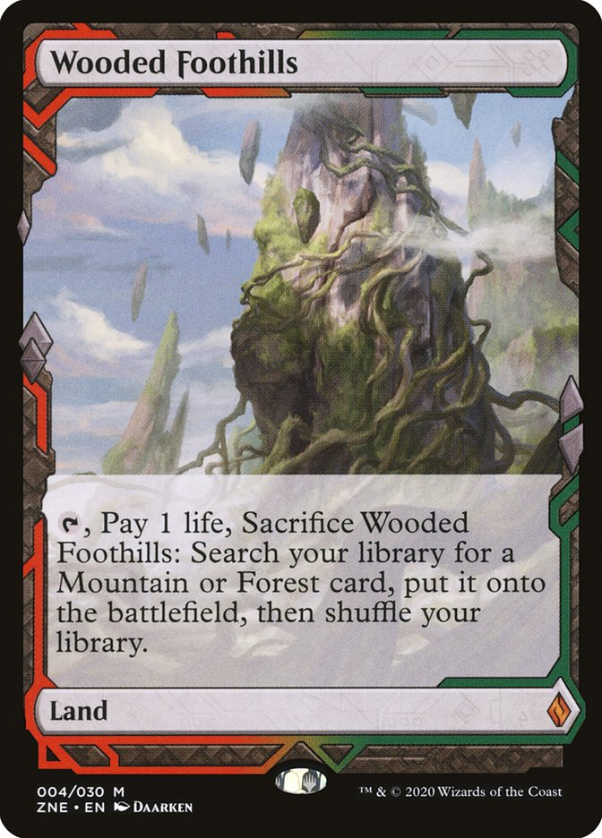 Wooded Foothills [Zendikar Rising Expeditions]