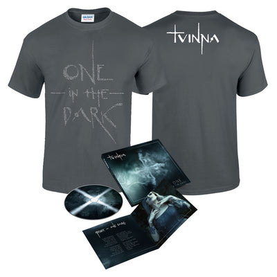 TVINNA - One In the Dark CD + Lyrics T-Shirt Bundle (6109112959175)