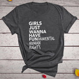 Feminism T Shirt Girls
