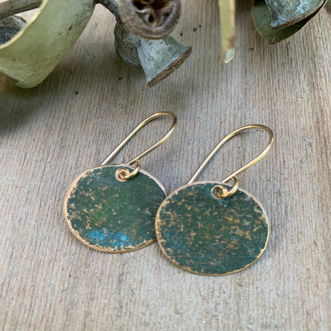 BRONZE AND VERDIGRIS EARRING-SMALL