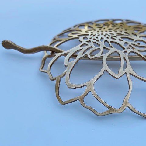 BRONZE DAHLIA HAIR PIECE