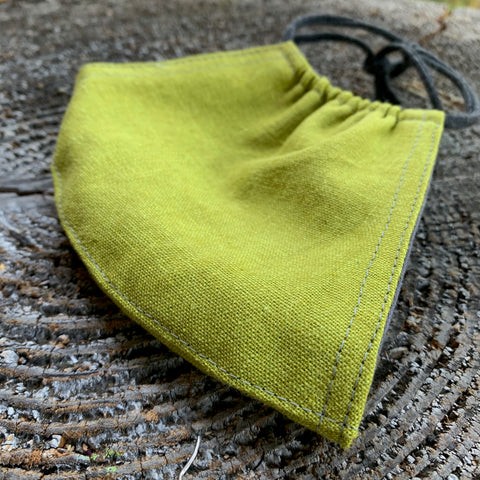 LINEN/COTTON FACE MASK-JACKFRUIT