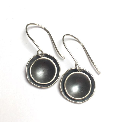 ORGANIC DOUBLE DOME DROP EARRINGS