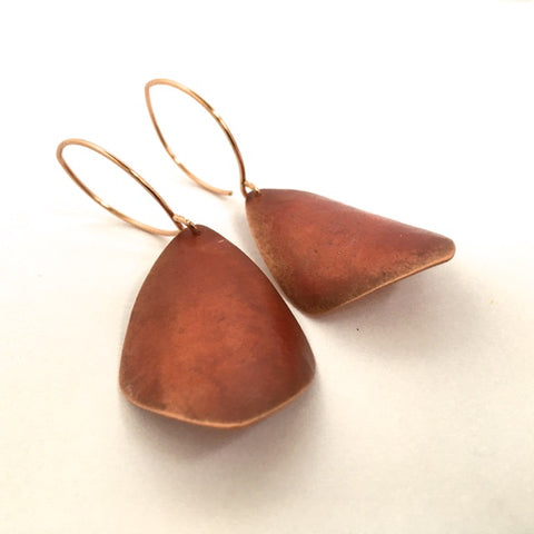 SHEER COPPER PATINA EARRING I