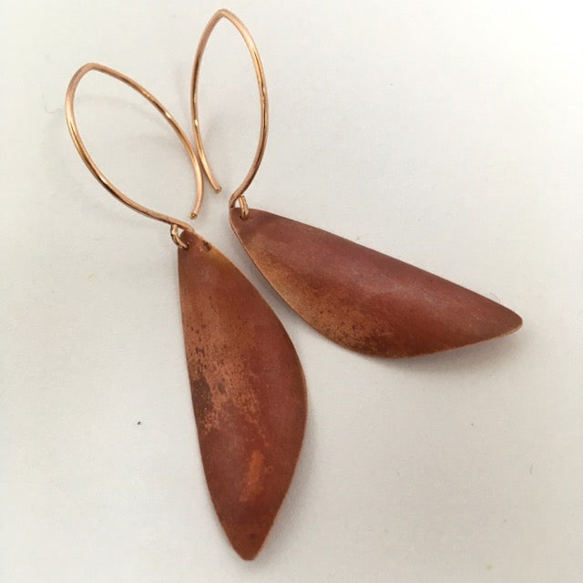 SHEER COPPER PATINA EARRING II