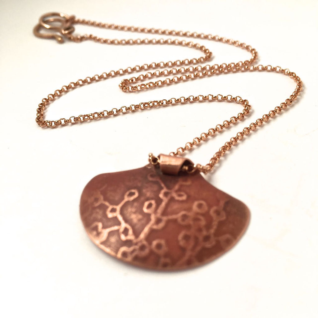 COPPER SHIELD NECKLACE
