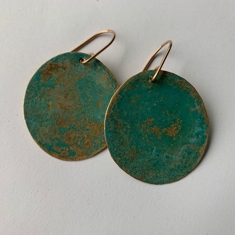 RUSTIC DISC EARRING-LARGE