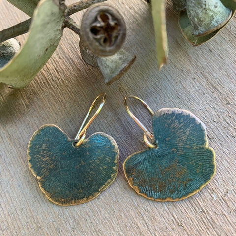 VERDIGRIS MAIDENHAIR EARRING