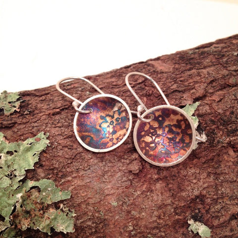FLORAL DISK EARRING