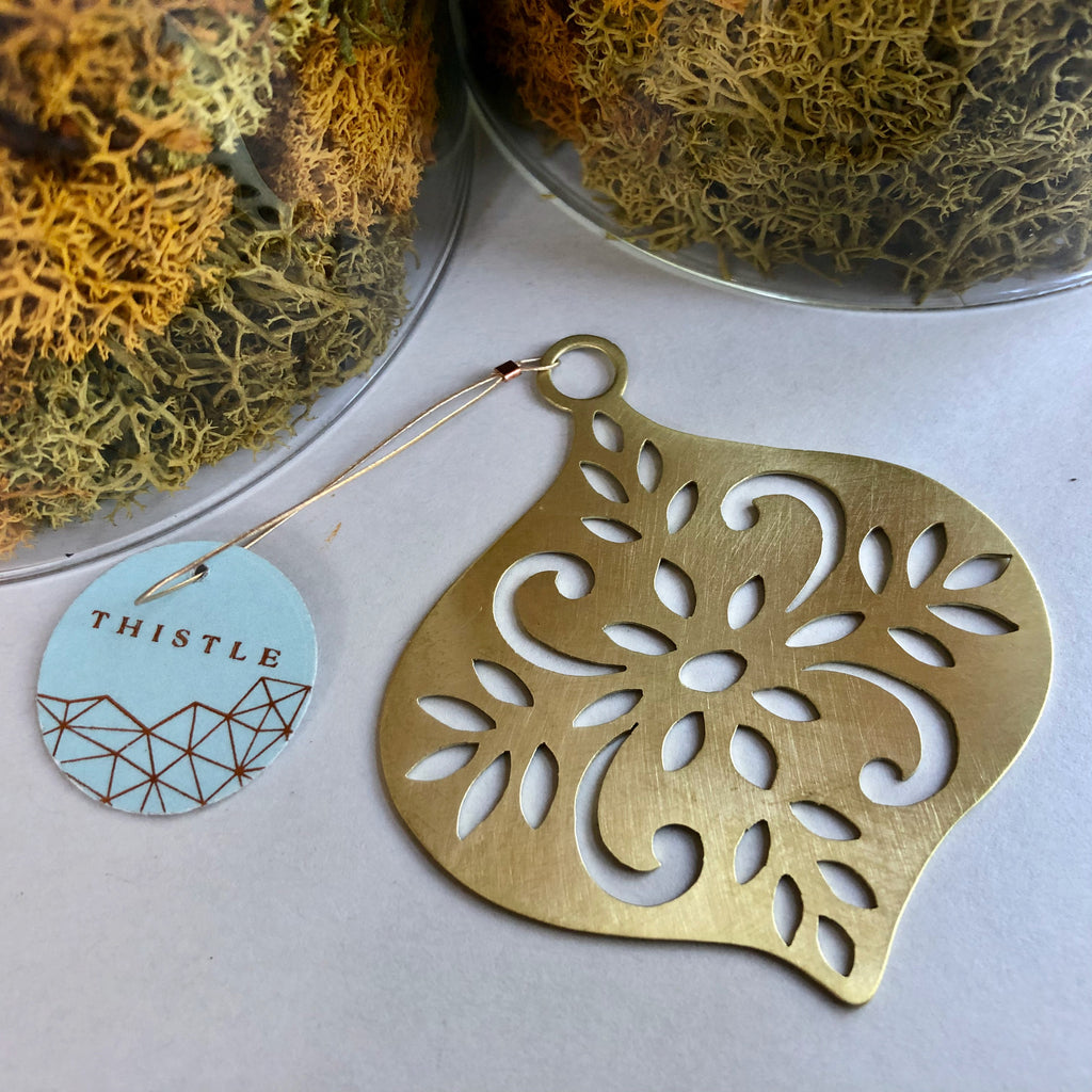 BRASS CUTWORK ORNAMENT