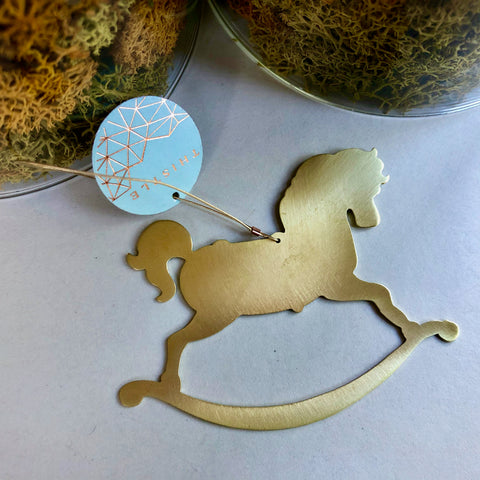 BRASS ROCKINGHORSE ORNAMENT