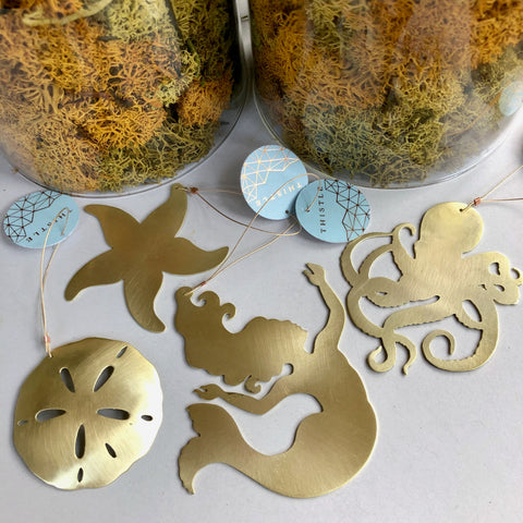 BRASS UNDER THE SEA ORNAMENT BUNDLE