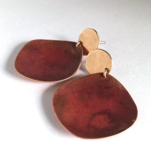 SHEER COPPER PATINA EARRING III