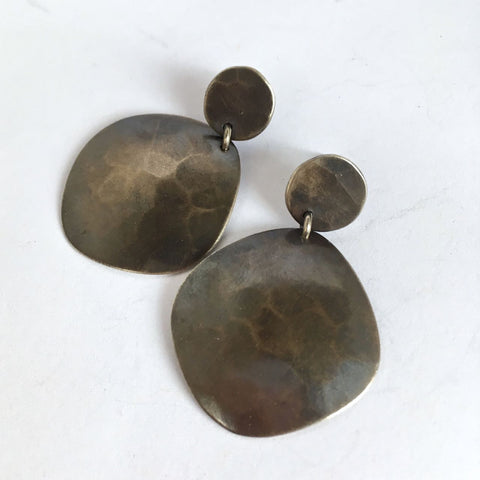 SHEER SILVER EARRING III-OXIDIZED