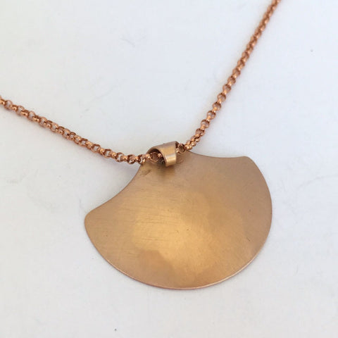 BRONZE SHIELD NECKLACE