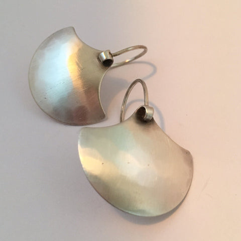 SILVER SHIELD EARRING