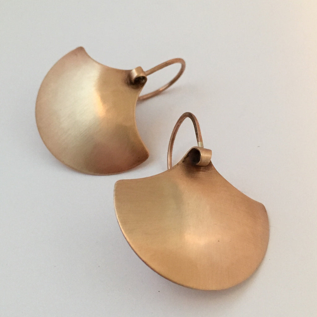 BRONZE SHIELD EARRING