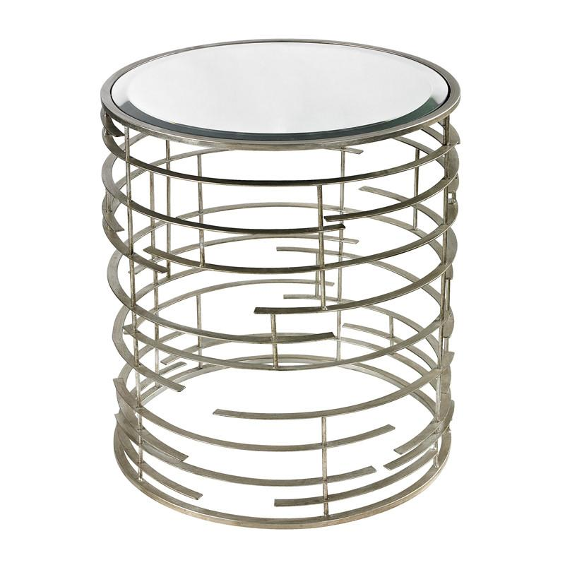 Ossett Side Table  Lazy Susan Side Table