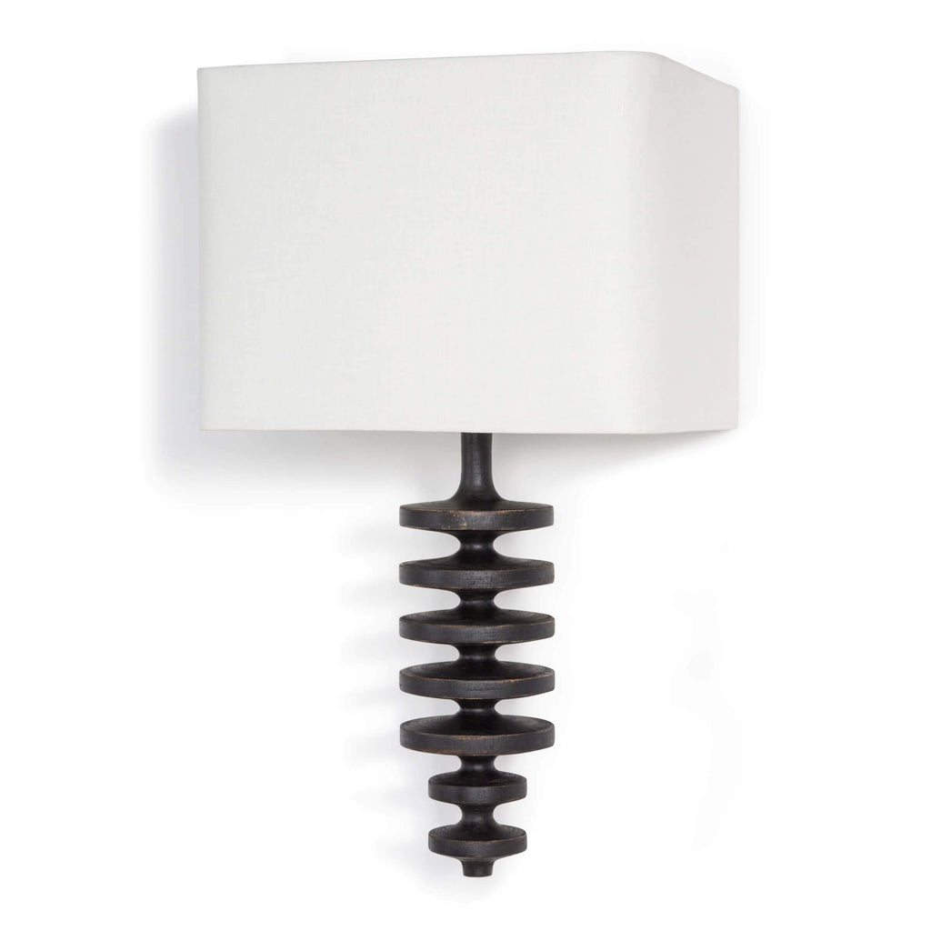 Fishbone Wall Sconce lighting Regina Andrew Design Ebony