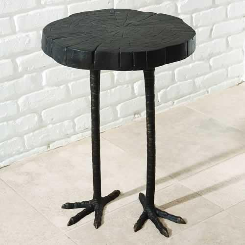 Ostrich Iron Side Table  Global Views Side Table - 2