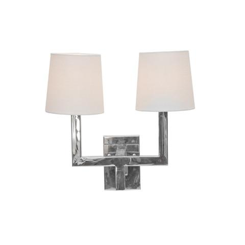 Kennedy Sconce Nickel Plated Worlds Away Lighting - 1