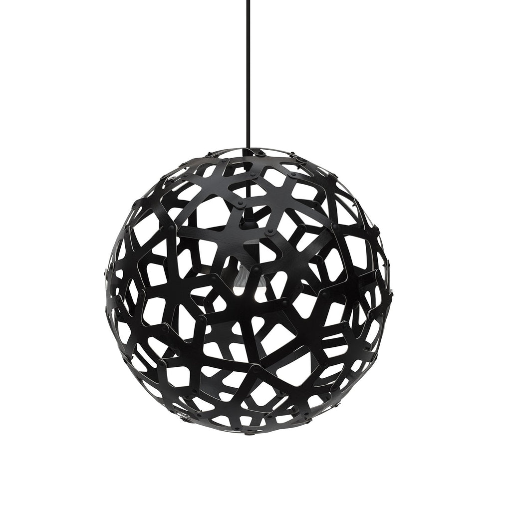 "David Trubridge Black Coral Pendant Light Pendants David Trubridge 24"" Kitset"