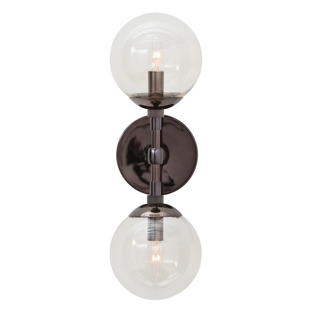 Polaris Brown Nickel Sconce Lighting Arteriors