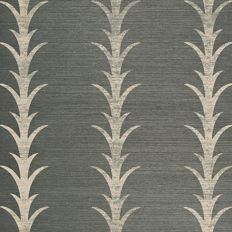 Acanthus Stripe Wallpaper Wallpaper Schumacher Shadow
