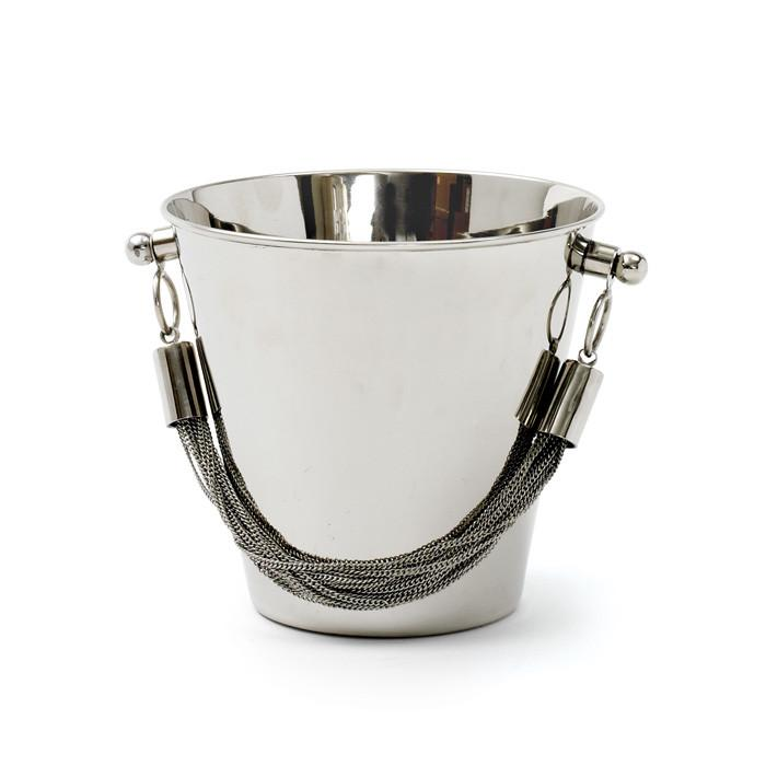Chained Brass and Stainless Steel Ice Bucket  Go Home Ltd. Serveware