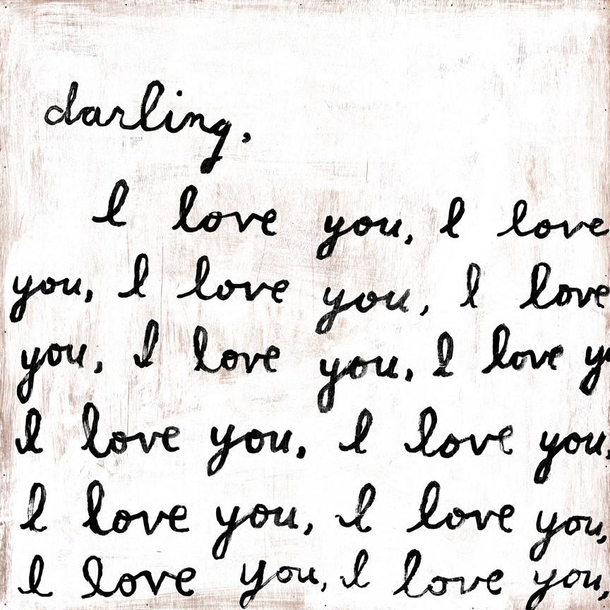 Sugarboo Designs: Darling, I Love You Wall Art Small Sugarboo Home