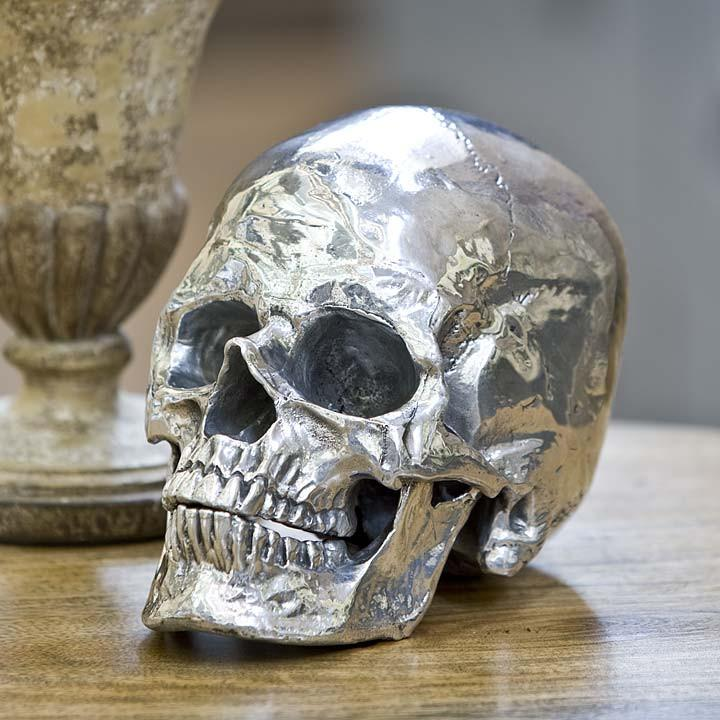 Metal Skull Sculpture  Regina Andrews Accessories - 2