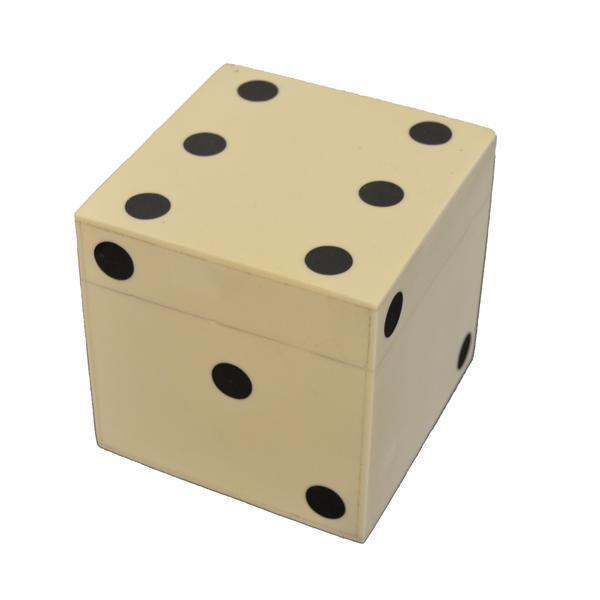 Small Bone Dice Box