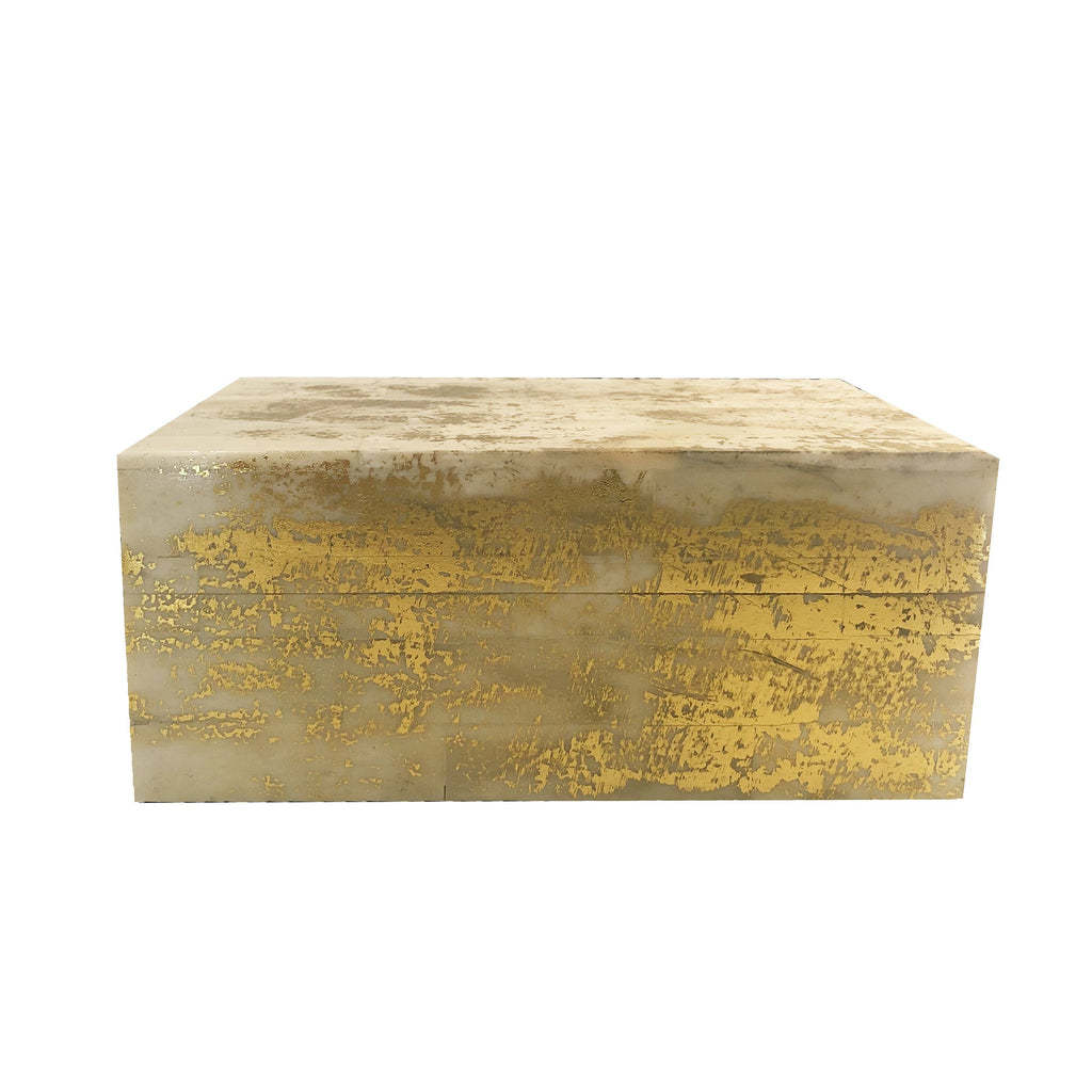 Gold Splatter Bone Box Boxes A. Sanoma