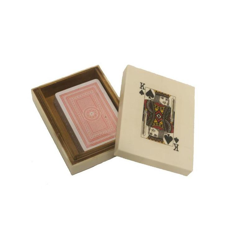 Bone Playing Cards Box Accessories A. Sanoma