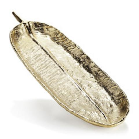 Gold Feather Athena Tray Medium Lunares Trays - 1
