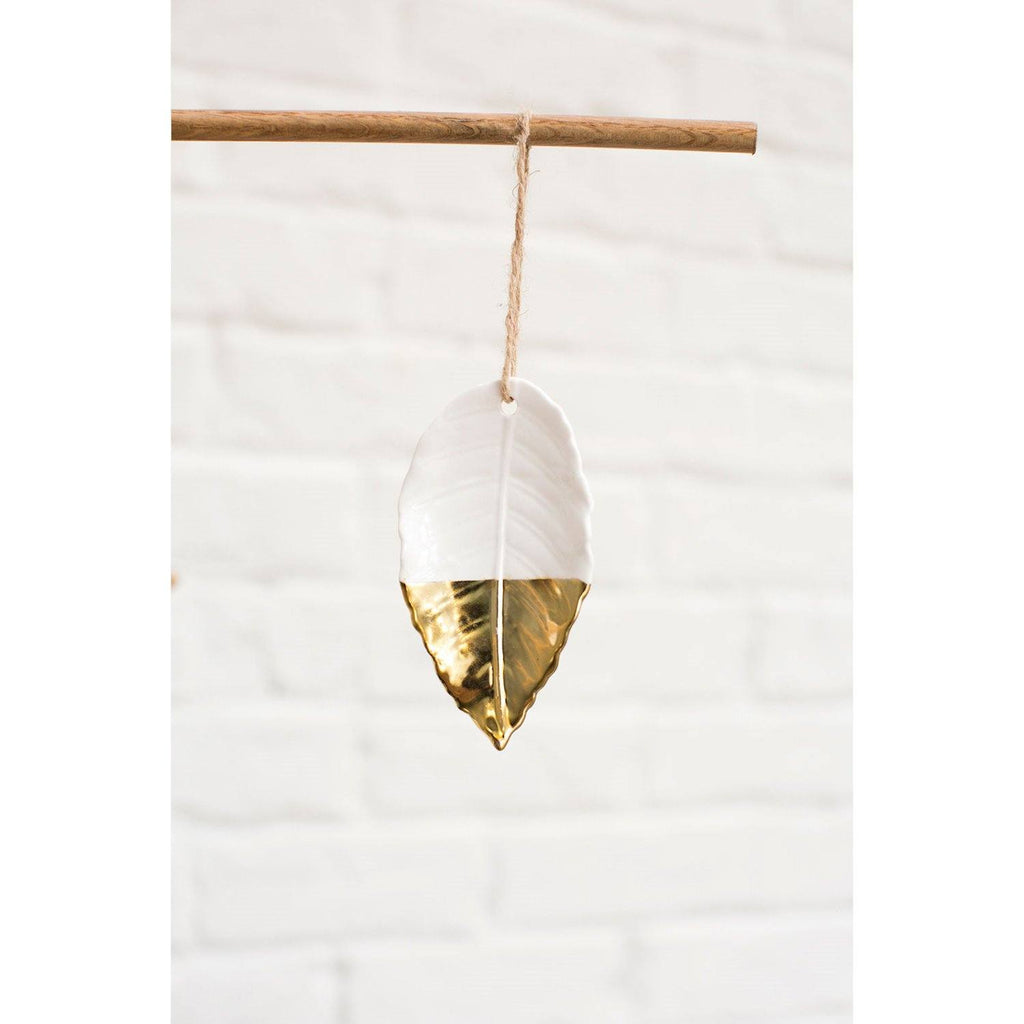 Touch of Gold Leaf Ornament