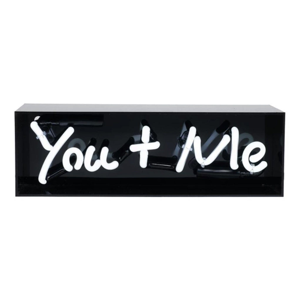 You + Me Acrylic Box Neon Light Accessories Amped & Co