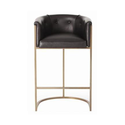 Calvin Leather Bar Stool Stools Arteriors
