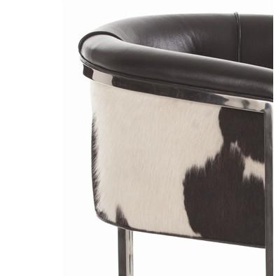 Arteriors Calvin Cowhide Leather Dining Bar Stool Shop
