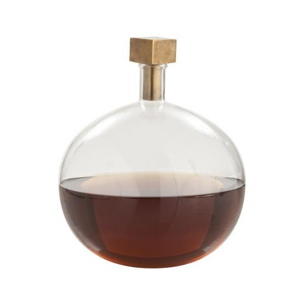 Edgar Cube Stopper Glass Decanter