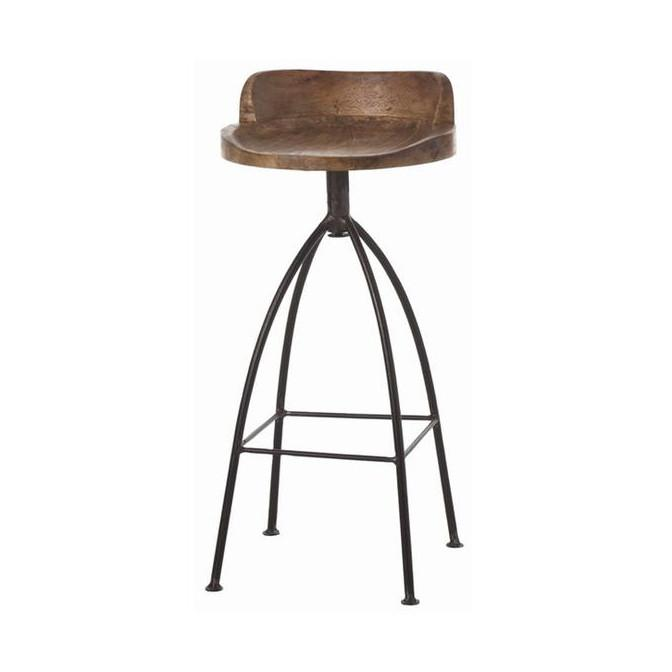 Hinkley Wood Stool Stool Arteriors Bar Stool