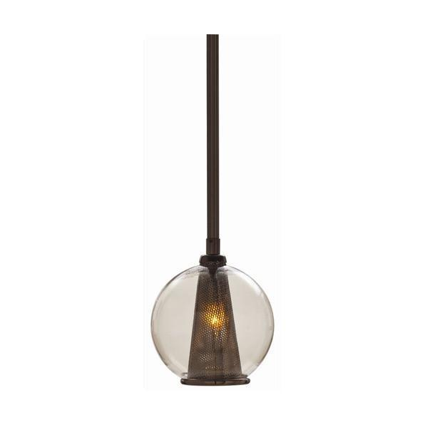 Caviar Glass Pendant Lighting Arteriors Brown Nickel/Smoke Small