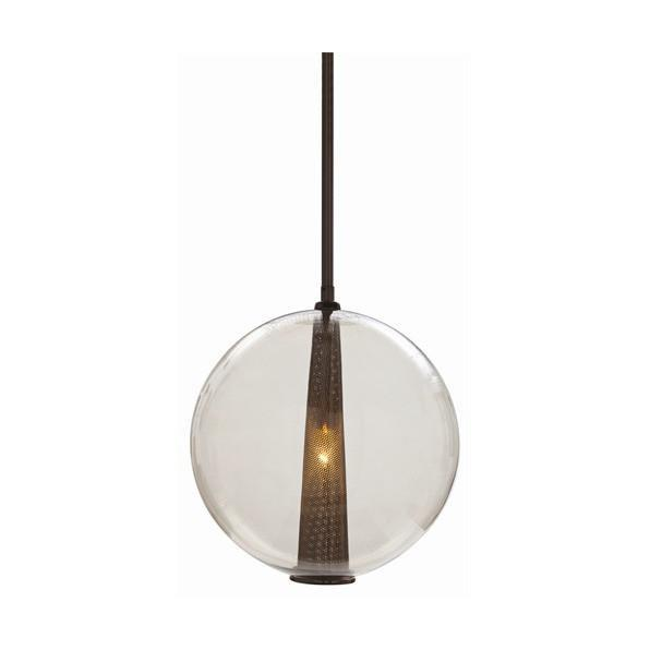 Caviar Glass Pendant Lighting Arteriors Brown Nickel/Smoke Large